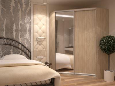Шкаф-Купе Компактный в спальную комнату