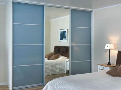 Шкаф-Купе в спальную комнату  Oracal+Зеркало